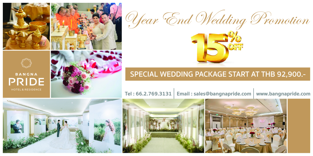 Special Wedding Package Start at THB 92,900.-