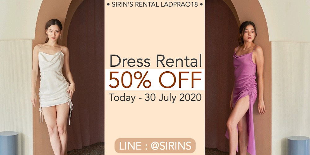 Dress Rental  50% OFF Today - 30 July 2020